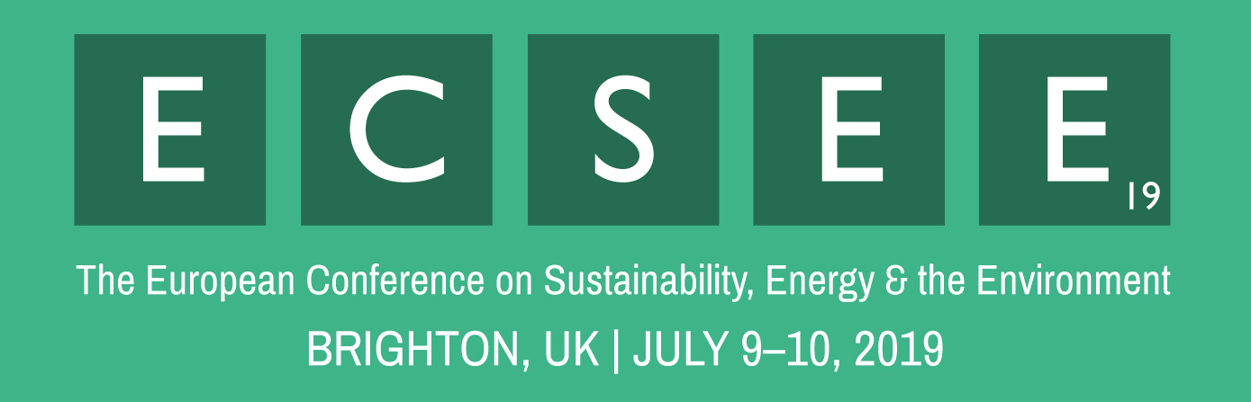 The European Conference on Sustainability, Energy & the Environment (ECSEE 2019)